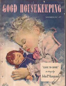 1947 Good Housekeeping November - Marquand; Rheumatoid Arthritis; Will Rogers