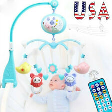 Musical Baby Crib Mobile Toy Toddler Bed Bell + Animal Rattles Projection Toy Us