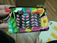 Vera Bradley  Small ID Wallet + KeyRing  ~ Floral  ~ Plastic clear front.