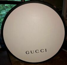 Gucci Round Hat Box Ivory New Authentic (Hats removed)