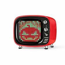 Tivoo Smart Pixel Art Bluetooth Speaker iPhone Android iPad Retro TV Shape Red