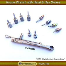 Dental Implant For Straumann Torque Wrench Ratchet 0-45Ncm with Hand&Hex Drivers