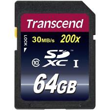 Transcend 64GB SDXC Class 10 Card SD XC Ultimate 64 GB OVP Neu TS64GSDXC10