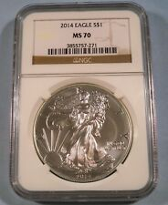 2014 NGC MS70 AMERICAN SILVER EAGLE MS 70