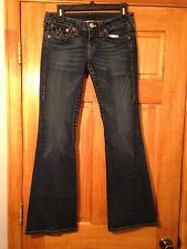 True Religion Super T Flare Jeans sz 28 Actual 28x31