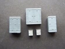 HO Scale Track Side Cabinets Kit for Model Railroad by Century Foundry (2198)