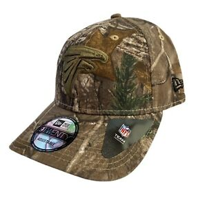Atlanta Falcons New Era Camo Hunting Fishing Strap back Dad Hat 9TWENTY Cap NFL