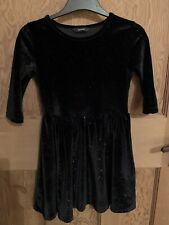 Girls Black Sparkly Dress Size 5/6