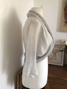 Damsel in a Dress Lucille Grey Silk Shrug Size 18