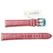 NEW Michele 16mm Light Pink Watch Band Strap Genuine Alligator