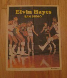 ELVIN HAYES 1970-71 Topps Basketball Poster NBA San Diego Rockets 4 1970 HOF
