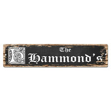 SPFN0442 The HAMMOND'S Family Name Street Chic Sign Home Decor Gift Ideas