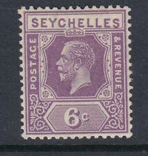 """Seychelles:1922 6c profunda Malva """"inclinados nombre Sg 105 Perfecto"""