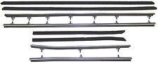 1966-1967 Oldsmobile Cutlass convertible window sweeps seals, belt line molding