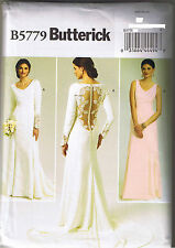 Princess Seam Wedding Bridal Dress Gown Train Sewing Pattern Size 12 14 16 18 20