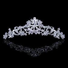 11cm Wide Bridal Bride Flower Girl Crystal Tiara Comb