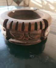 Vintage Handcrafted Hawaii Wooden Ashtray Tiki Wood Ash Tray