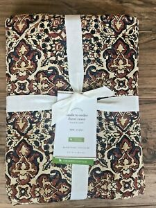 NEW Pottery Barn Lynd Print Duvet Cover Twin Size Warm Organic Cotton Bedding