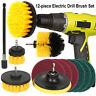 12Pcs Drill Brush Electric Attachment Set Power Scrubber Cleaning Scrub Cleaner