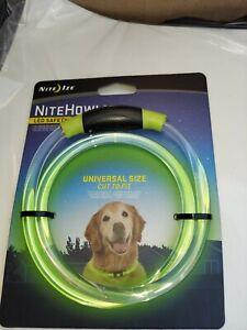 Nite Ize NiteHowl LED Light Dog Collar Necklace Night Safety Green NHO-28-R3