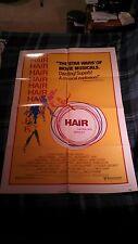 HAIR one sheet movie poster memorabilia 1979 John Savage Treat Williams