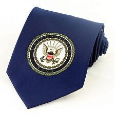 Parquet Coast Guard Large Emblem Mens Blue Neck Tie