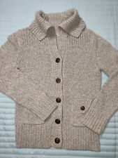Banana Republic Women's S Gray Button up Sweater Jacket Wool blend Cable Knit