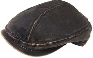 DPC Weathered Cotton Euro Cut Ivy Cap Distressed Look Scally Driver Flat Hat