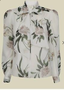 Ted Baker FARAI Elderflower bow neck blouse Size 1
