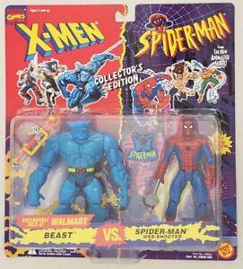 X-MEN vs SPIDER-MAN BEAST vs SPIDER-MAN WEB-SHOOTER WITH SPIDER-MAN PIN WAL-MART
