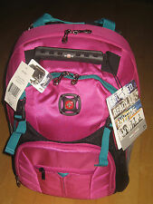 """New SwissGear Sherpa Magenta/Teal 16"""" Laptop Carrying Case Backpack MSRP $69 Tag"""
