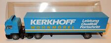 MICRO WIKING HO 1/87 CAMION MAN DIESEL SEMI REMORQUE KERKHOFF WOHNMOBEL IN BOX b