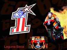 Nicky Hayden MotoGP World Champion #1 2007 style MotoGP race decals stickers