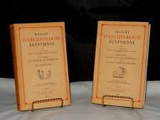 """PAIR OF RARE 1952 """"MANUEL D'ARCHEOLOGIE EGYPTIENNE"""" by PICARD TOME PREMIER"""