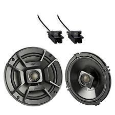 "2x Polk 6.5"" 300W 2 Way Coaxial Speakers, 2x Metra Harness (Select GM Vehicles)"