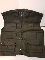 Kids Children Green Multi Pocket Vest Top Gun Combat Waistcoat Age 13/14 Years