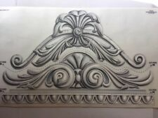Tatouage Pair Of Classic Acanthus Architectural Detail Dry Rub Transfer