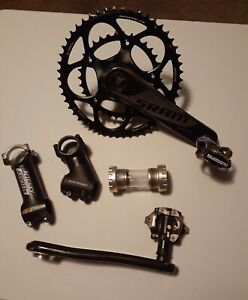Sram crankset al 7075 t6 50/34t 10spd , bottom bracket, clipless petals, 2 stems