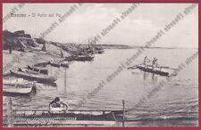 CREMONA CITTÀ 114 PORTO sul Fiume PO - BARCHE Cartolina