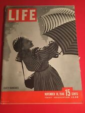 VINTAGE NOVEMBER 18,1946 LIFE MAGAZINE FEATURING-PARTY RAINCOATS IN VN CONDITION