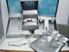 Zales Opal & Sapphire Necklace, Bracelet, Earrings & Ring Complete Set