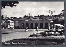 VICENZA CITTÀ 78 STAZIONE Cartolina FOTOGRAFICA viaggiata 1959