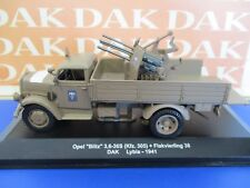 Die cast 1/43 Modellino Camion Opel Blitz 3,6-36s Flakvierling 38 DAK Lybia 1941