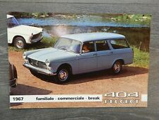 CATALOGUE BROCHURE PROSPEKT PEUGEOT 404 DE 1967