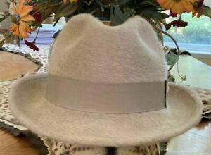 BILTMORE IMPERIAL HAMILTON HAT * 7 3/8 * MENS LONG HAIR FUR FELT DRESS FEDORA