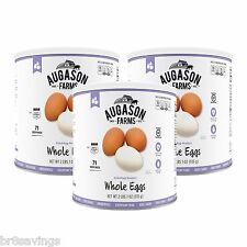 Augason Farms Dried Whole Eggs - #10 cans Emergency Storage Food - 3 pack