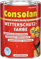 Consolan Wetterschutz-Farbe - 2,5 l, weiß