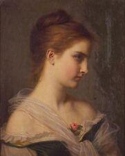 """Ölbilder óleo a Portrait of a Woman """"by hugues 48x60cm"""