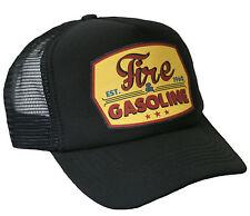 Trucker Cap Fire & Gasoline schwarz Hot Rod US Car Rockabilly V8 Mütze Biker Hut