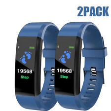 2 Smart Band Watch Bracelet Wristband Fitness Blood Pressure Heart Rate Tracker